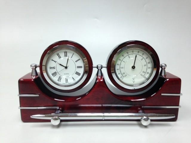 Прибор настольный (часы,термометр, ручка)